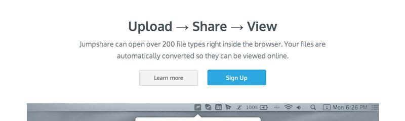 Partagez vos fichiers en un clin d'oeil avec Jumpshare