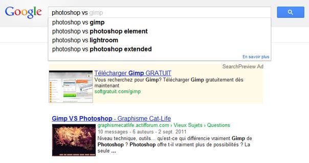 Trouvez des alternatives avec l'auto-complétion de Google