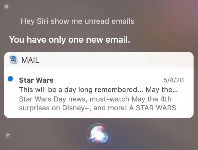 Siri sur Mac choses surprenantes que tu peux faire, lire tes mails