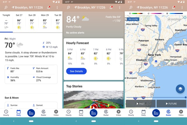 the weather channel tout connaitre de la météo application android