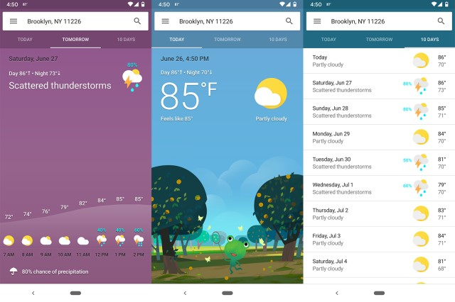 google application météo