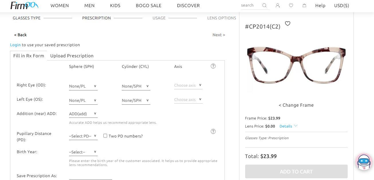 utiliser son ordonnance pour commander des lunettes en ligne