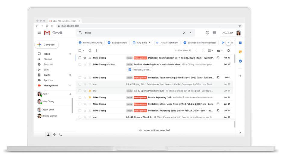 gmail fournisseur mail avec filtres