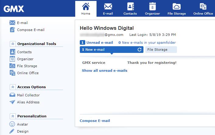 gmx fournisseur de mails gratuit
